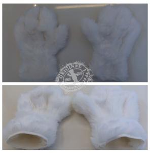 Hände-Maskottchen