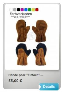 Hand-Maskottchen-Kostüm