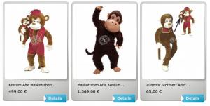 Kostüm-Affen