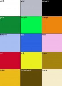 Maskottchen-Farben-Auswahl-Individuell