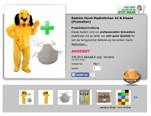 Hund-16p-Kostüm-Lauffigur