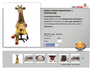 Giraffen-Kostüm-122c
