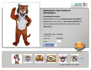 Kostüm-Lauffigur-Tiger
