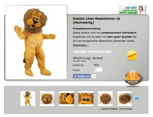 Löwen-60a-Kostüm-Lauffiguren