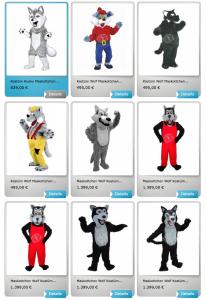 227b-Husky-Kostüme-Maskottchen