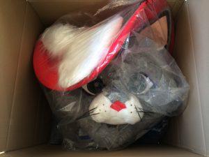 66a-Katze-Versand-Kostüm-Maskottchen-Lauffiguren
