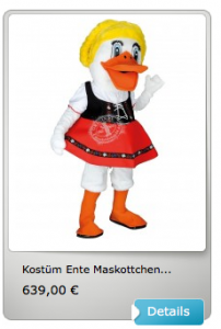Ente-Kostüm-Lauffiguren