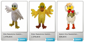 Ente-Kostüme-Lauffiguren