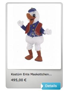 Ente-Kostüme-Maskottchen
