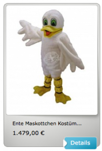 Enten-Kostüm-Lauffiguren