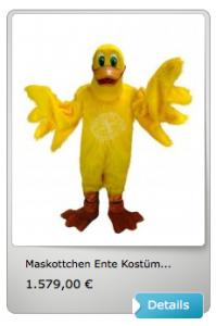 Enten-Kostüm-Maskottchen