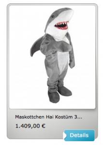 Hai-Kostüm-Lauffigur