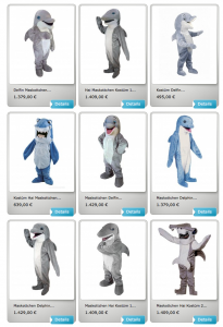 Hai-Kostüme-Maskottchen