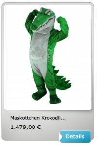 Krokodil-Maskottchen-Lauffigur