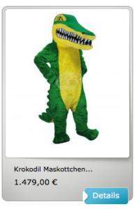 Krokodile-Maskottchen-Kostüme