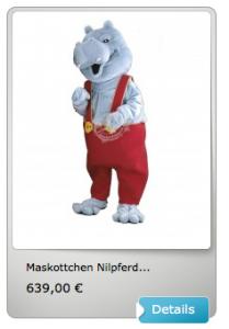Nilpferd-Kostüme-Maskottchen