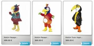 Papagei-Kostüme