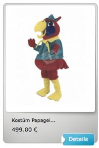 Papagei-Maskottchen-Lauffigur-Kostüm