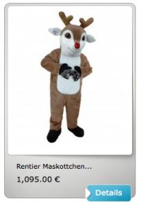 Reh-Maskottchen-Lauffiguren