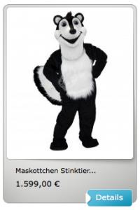 Stinktier-Kostüm-Lauffiguren