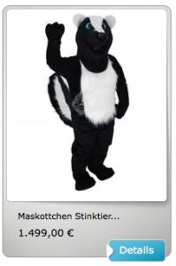 Stinktiere-Kostüm-Lauffigur