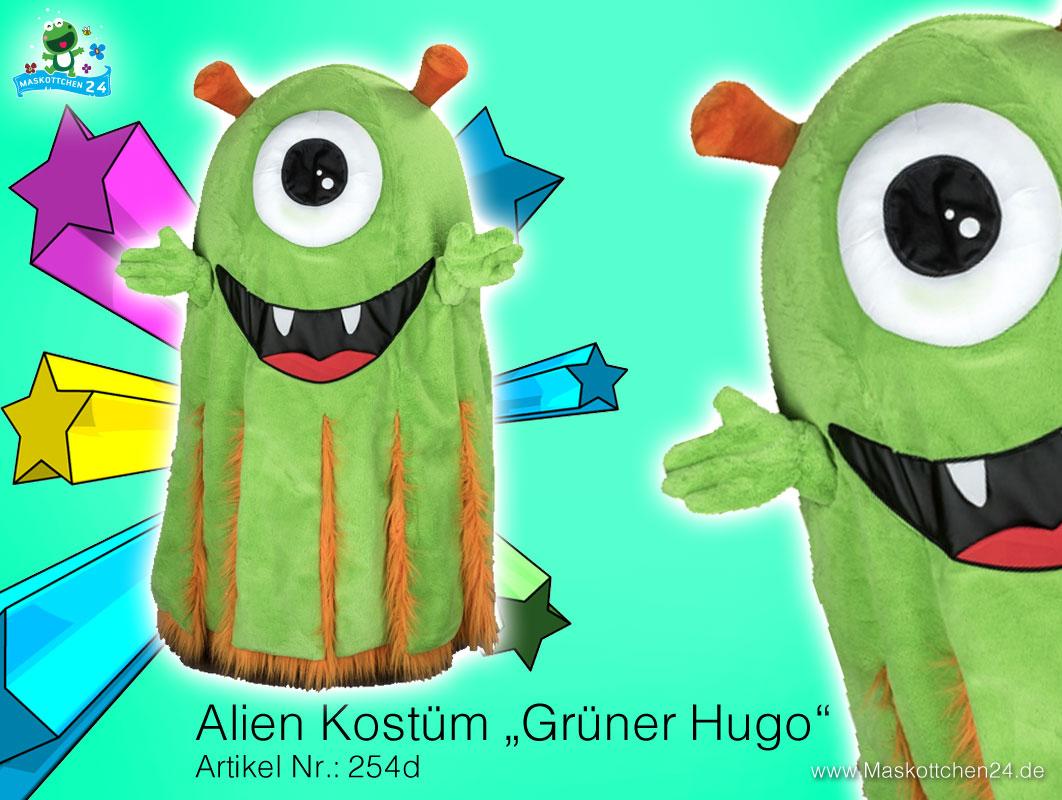 monster alien kost m maskottchen 254d ist heute. Black Bedroom Furniture Sets. Home Design Ideas