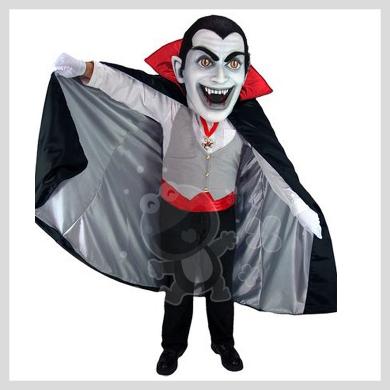 Das Halloween Vampir Kostüm..........Wir haben noch viele weitere Kostüm Modelle für Sie in unserem Maskottchen24 Online Shop für Ihre Promotion Figur!!! Schauen Sie doch mal bei uns vorbei...