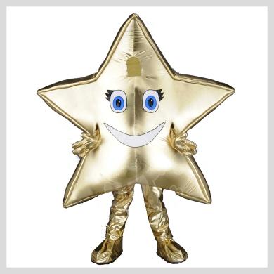 Das goldene Stern Kostüm..........Wir haben noch viele weitere Kostüm Modelle für Sie in unserem Maskottchen24 Online Shop für Ihre Promotion Figur!!! Schauen Sie doch mal bei uns vorbei...
