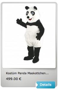 +++ Panda Lauffigur Kostüm ist Maskottchen des Tages +++ Panda 53a Panda 200b Panda 105a Panda 444pa4-05 Panda 444pa5-07