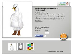 Schwan-Promotion-Kostüm