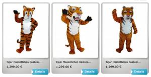 Tiger-Kostüm-Tiger