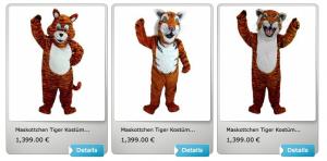 Tiger-Kostüme
