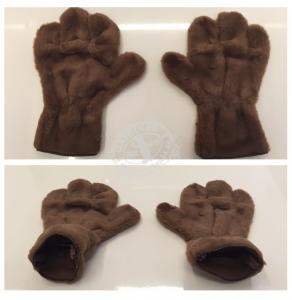 Hände-Maskottchen-Lauffigur