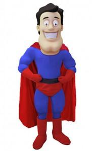 Supermann-Kostüm-Maskottchen