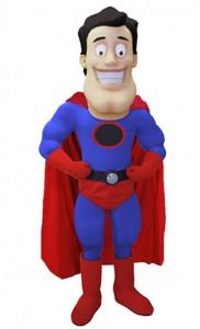 Supermann-Kostüme-Maskottchen