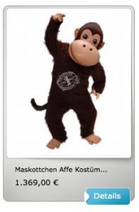 Affen-Maskottchen