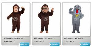 Maskottchen-Affen