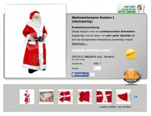 Maskottchen-Weihnachtsmann-198j-Kostume