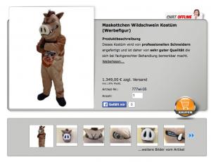 Wildschwein-Kostüm Kopie