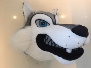 Wolf-Kostüm-Lauffiguren