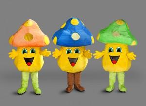 246C-Kostüm-Pilz-Figuren