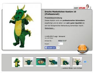 Drachen-Kostüm Kopie