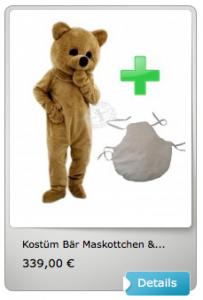 3p-Bär-Kissen-Kostüme