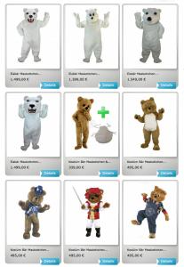 3p-Bären-Kissen-Kostüm