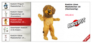 Löwe-60a-Kostüm-Lauffiguren