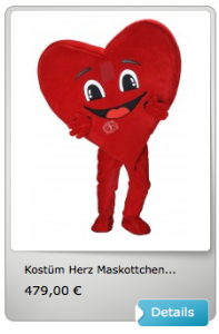 Kostüm-günstig-Herz
