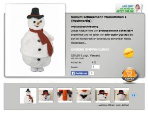 Schneemann-Kostüm-Lauffigur