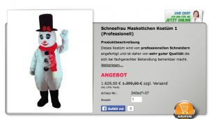 Schneemann-Kostüme-Lauffigur