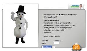 Schneemann-Kostüme-Lauffiguren