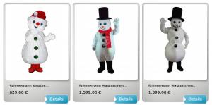 Schneemanner-Kostüm